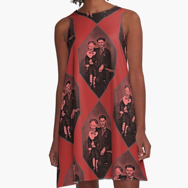 Two Voices One Man A-Line Dress