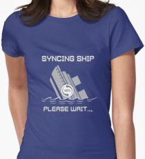 Syncing Ship Women's Fitted T-Shirt