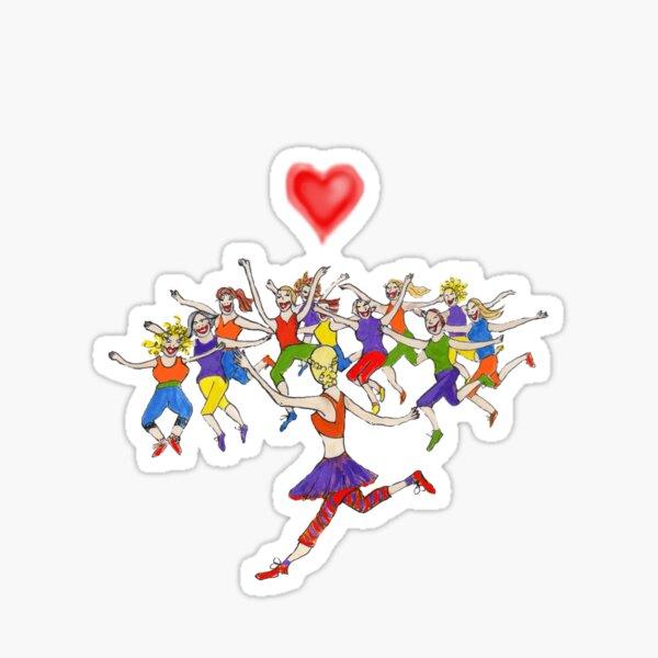LADIES DANCING EXERCISE Sticker