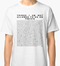 Skippy's List Archaeology edition Classic T-Shirt