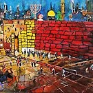 Whimsical Western Wall with lots of imagery by photobylorne