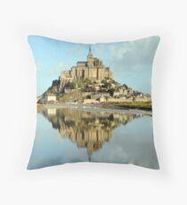 Mont St Michel, France Throw Pillow