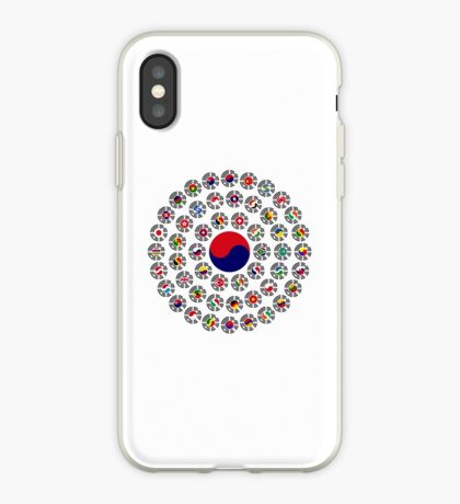 We Are Korea Multinational Patriot Flag Collective 1.0 iPhone Case