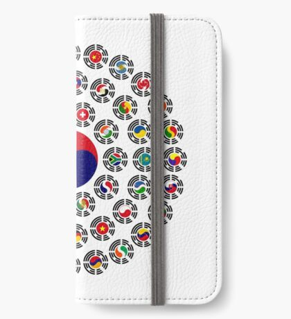 We Are Korea Multinational Patriot Flag Collective 1.0 iPhone Wallet