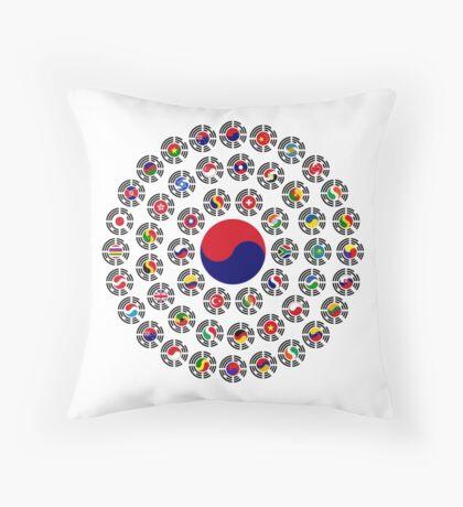 We Are Korea Multinational Patriot Flag Collective 1.0 Throw Pillow