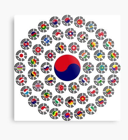 We Are Korea Multinational Patriot Flag Collective 1.0 Metal Print