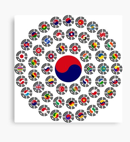 We Are Korea Multinational Patriot Flag Collective 1.0 Canvas Print