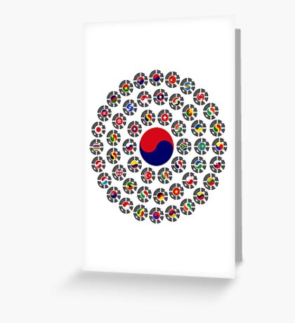 We Are Korea Multinational Patriot Flag Collective 1.0 Greeting Card