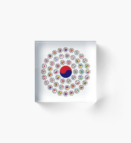 We Are Korea Multinational Patriot Flag Collective 1.0 Acrylic Block