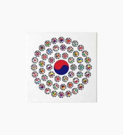 We Are Korea Multinational Patriot Flag Collective 1.0 Art Board Print