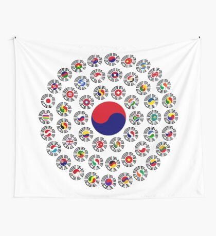 We Are Korea Multinational Patriot Flag Collective 1.0 Wall Tapestry