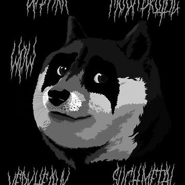 Metall Doge von pornflakes
