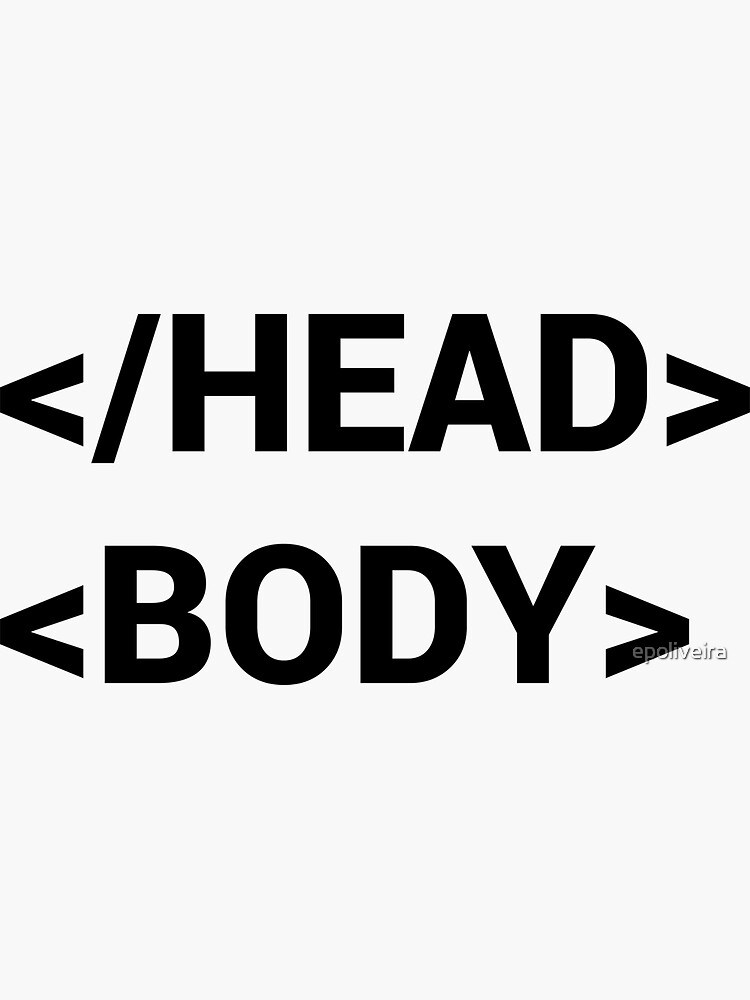 head body html tag funny programmer  by epoliveira
