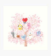 BT21 Cherry Tree Art Print