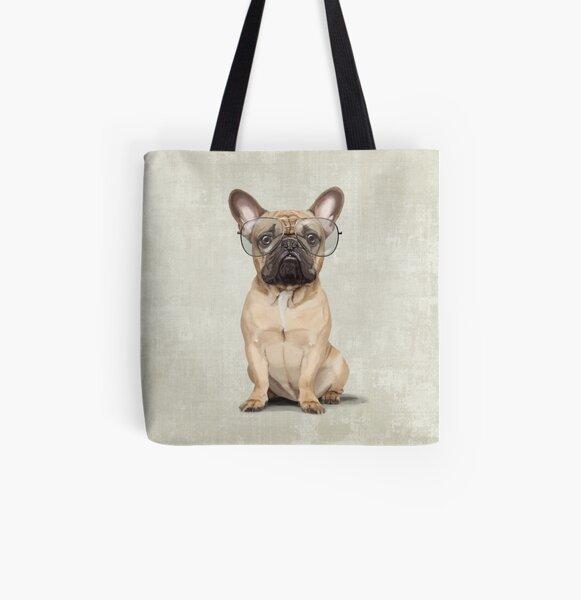Mr Bulldog All Over Print Tote Bag