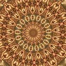 Molten Gold Fractal Mandala Kaleidoscope Abstract 1 by Artist4God