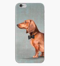 Mr. Dachshund portrait iPhone Case