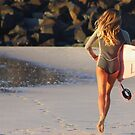 Morning  Surf , The Wall Ballina by Trish Threlfall