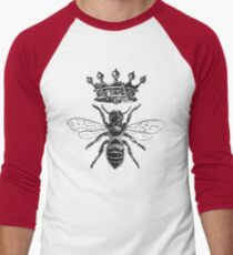 Queen Bee | Black and White Men's Baseball ¾ T-Shirt