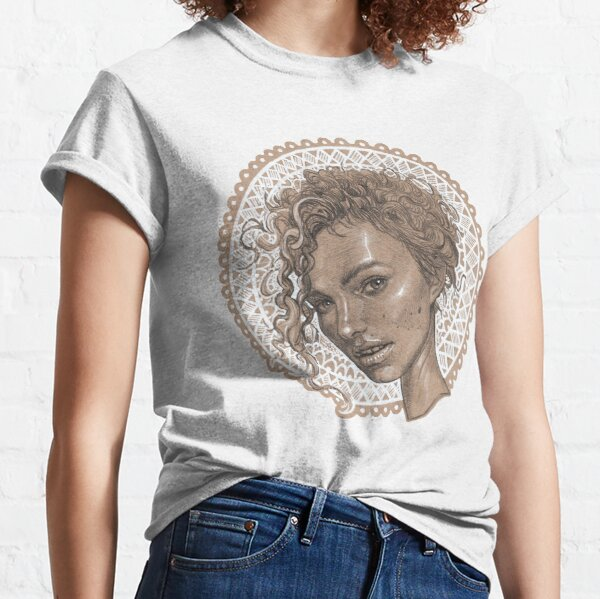 White Circle Katty Classic T-Shirt