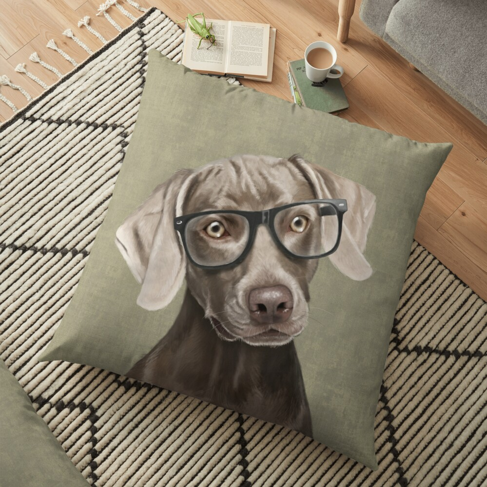 Mr Weimaraner Floor Pillow