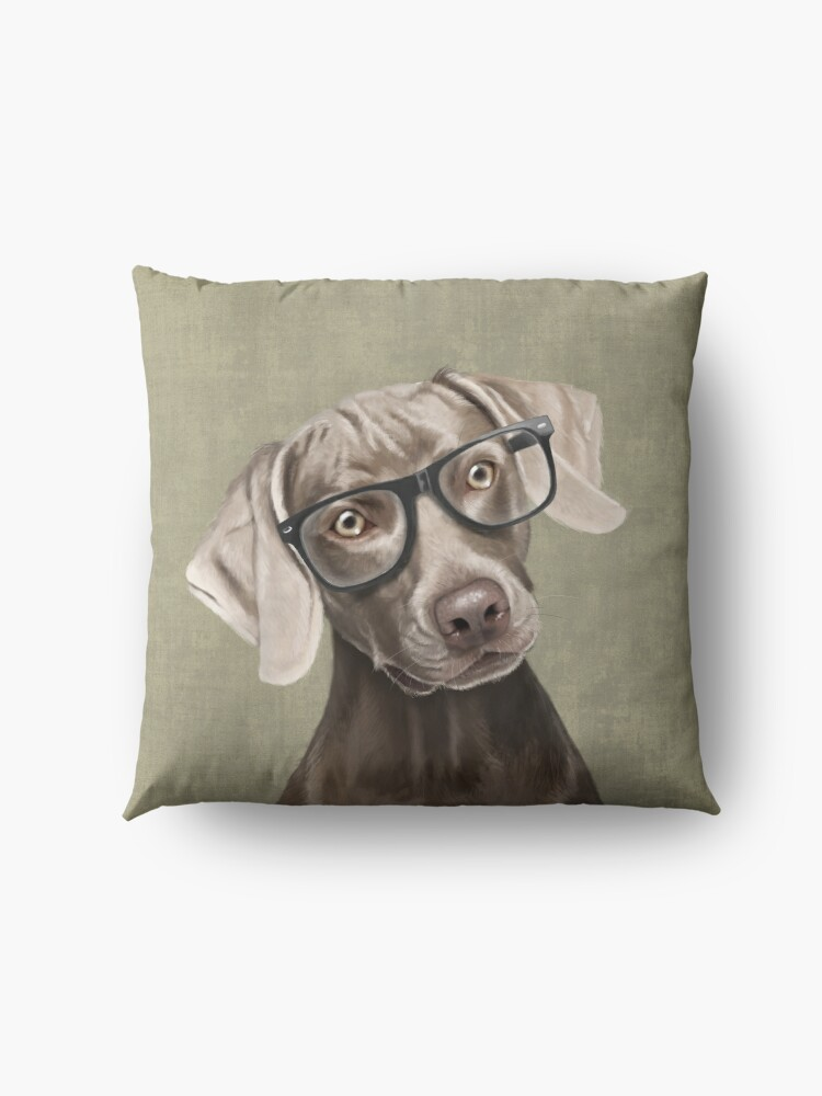 Alternate view of Mr Weimaraner Floor Pillow