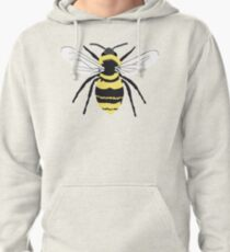 Bumble Bee on Transparent Background Pullover Hoodie