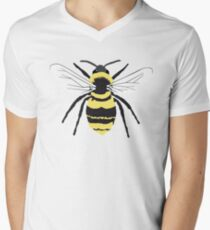 Bumble Bee on Transparent Background Men's V-Neck T-Shirt