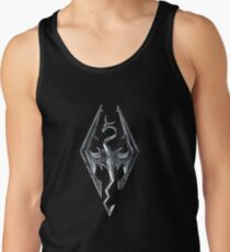 Skyrim Logo - Iron Embossed in Granite Tank Top