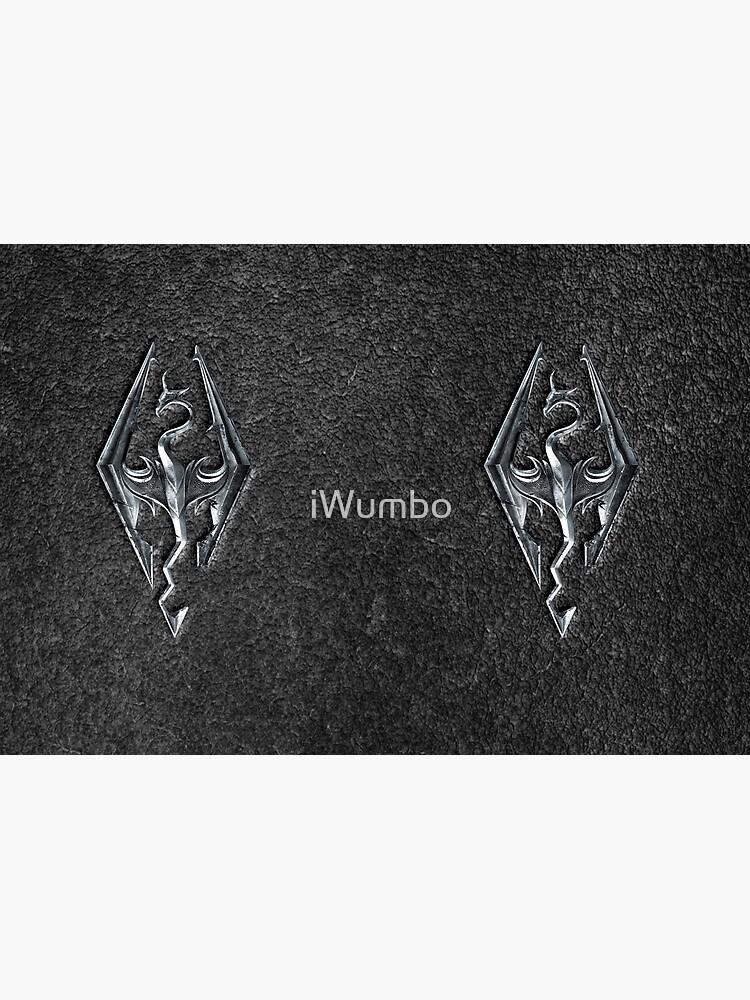 Skyrim Logo - Iron Embossed in Granite by iWumbo