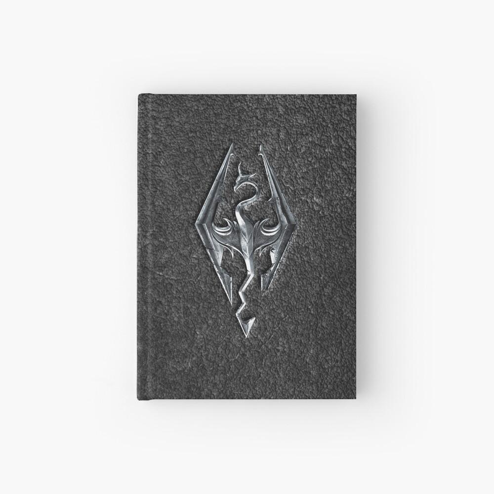Skyrim Logo - Iron Embossed in Granite Hardcover Journal
