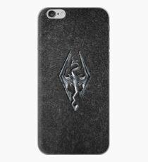 Skyrim Logo - Iron Embossed in Granite iPhone Case