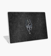 Skyrim Logo - Iron Embossed in Granite Laptop Skin