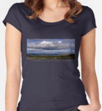 The Burren Sky Women's Fitted Scoop T-Shirt