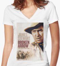 BROKEN ARROW Women's Fitted V-Neck T-Shirt