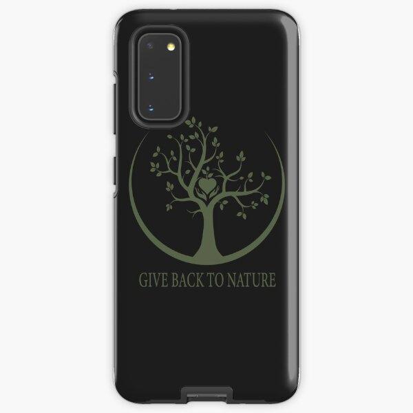 Give Back to Nature - Green Logo Samsung Galaxy Tough Case