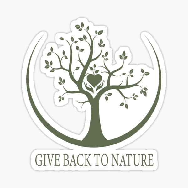 Give Back to Nature - Green Logo Sticker