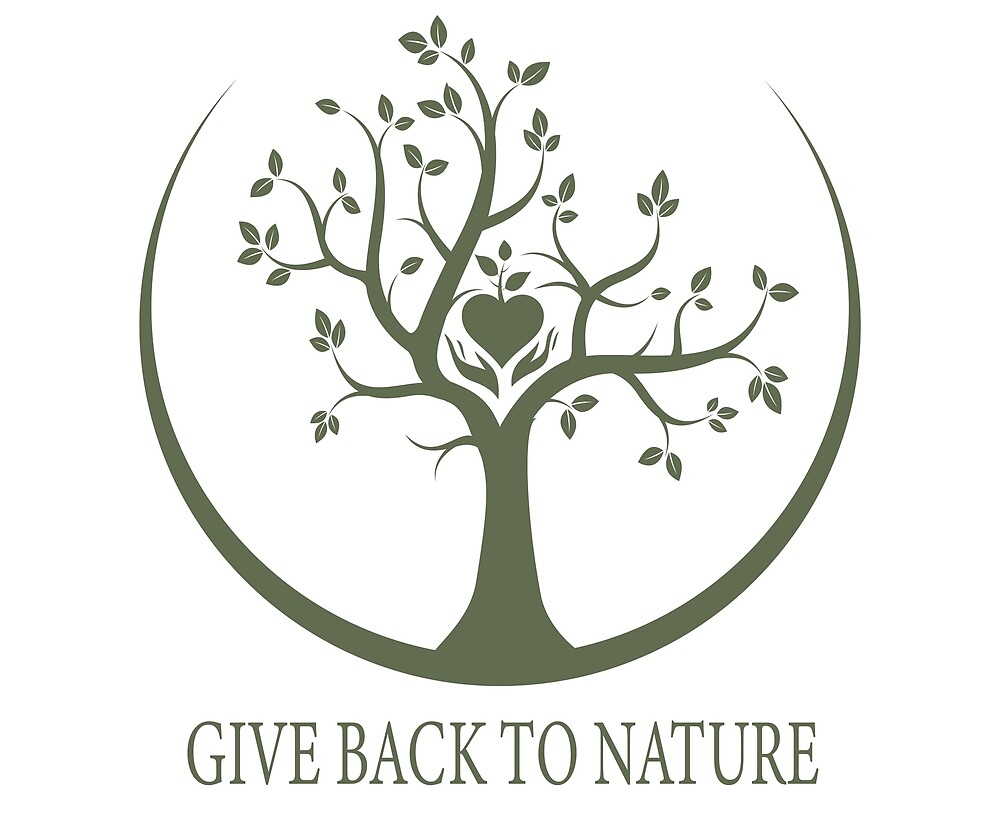 Give Back to Nature - Green Logo by Patrick Di Fruscia