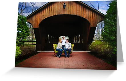 in the park by the covered bridge... by Kristen  Byrne