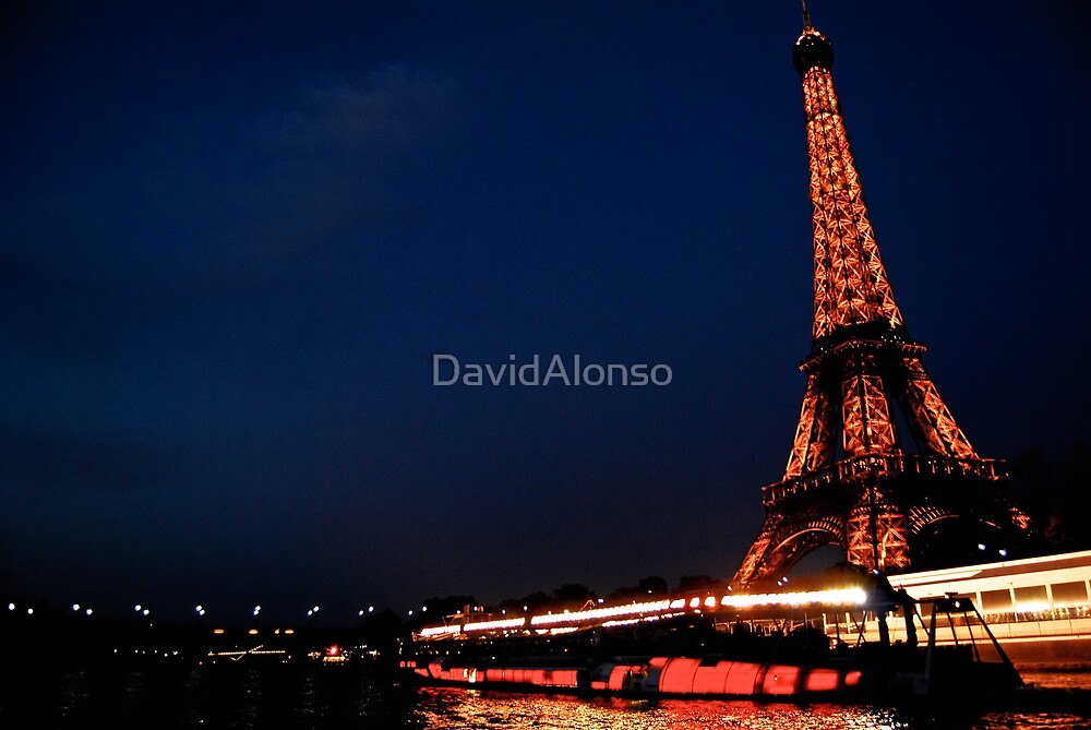 Eiffel Tower from Seine by DavidAlonso