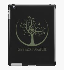 Give Back to Nature - Green Logo iPad Case/Skin