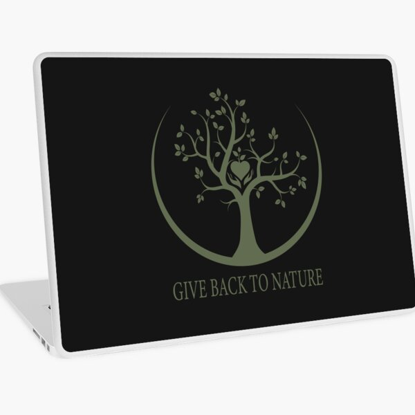 Give Back to Nature - Green Logo Laptop Skin