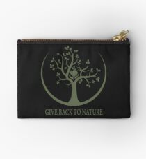 Give Back to Nature - Green Logo Studio Pouch