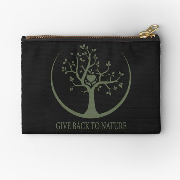 Give Back to Nature - Green Logo Zipper Pouch