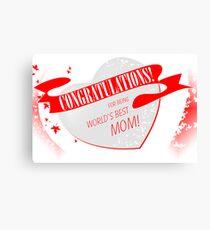 Congratulations! Canvas Print