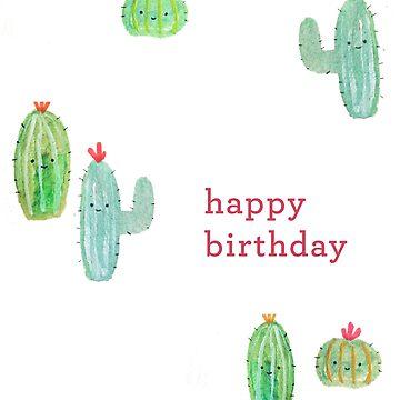 Happy Birthday - Cute Cactus  by tofusan