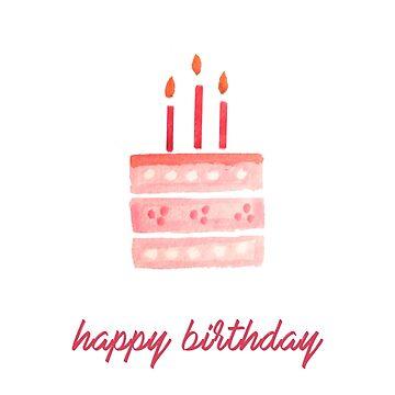 Happy Birthday - Pastel Cake by tofusan