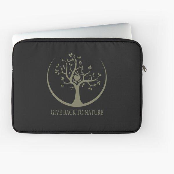 Give Back to Nature - Kaki Grunge Laptop Sleeve