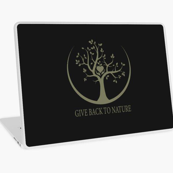 Give Back to Nature - Kaki Grunge Laptop Skin