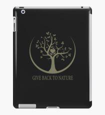 Give Back to Nature - Kaki Grunge iPad Case/Skin